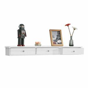 Wandregal mit Schubladen ♥ SoBuy FRG43-L-W Wandschrank mit 3 Schubladen  ♥