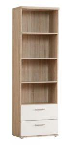 Regalsysteme Bücher - Regal Bücherregal Winnie in Sonoma Eiche mit 2 Schubladen