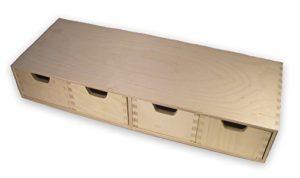 Wandregal mit Schubladen ♥ MidaCreativ stabiles Schubladen-Regal, Wandregal, mit 4 Schubladen, Holz unbehandelt  ♥