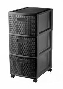 Regal mit Schubladen ♥ Sundis Country Rollcontainer mit 3 Schubladen in Rattan - Optik ♥