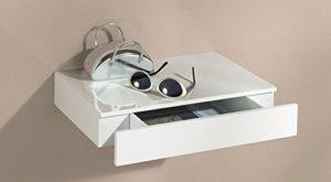 Wandregal Weiß mit Schubladen - Wandregal mit Schublade ♥ Caseto ♥  weiß hochglanz