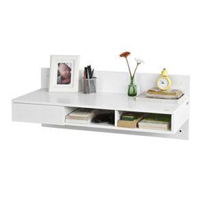 Regal mit Schubladen ♥ SoBuy FWT30-W Wandtisch in weiß  ♥