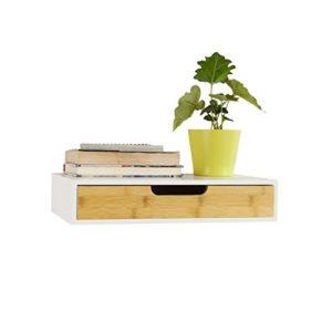 Regal mit Schubladen ♥ SoBuy FRG92-WN Schweberegal Wandschrank  ♥