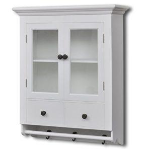 REGAL MIT GLASTÜR - vidaXL Küchenregal Weiß mit Glastüren