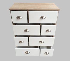 Weiße Kommode mit Schubladen -  Schubladenkommode Apothekerschrank ♥  Sonoma Eiche ♥ Weiß ♥ 8 Schubladen ♥  Highboard ♥ Schrank