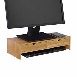 Regal mit Schubladen ♥ SoBuy FRG198-N Monitor Bildschirm Ständer Monitorerhöhung  ♥