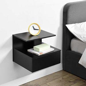 Wandregal mit Schubladen ♥ [en.casa] Wandschrank mit Schublade in Dunkelgrau  ♥