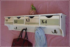 Wandboard mit Schubladen - Wandregal mit 4 numerierten Schubladen ♥ Weiß