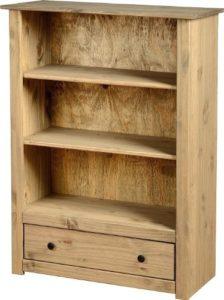 Bücherregal Wand - Panama Bücherregal mit Schublade ♥ Natur