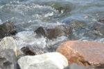 Wandregal mit Schubladen - Steine, Wasser